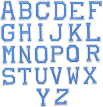 Parche Termoadhesivos Alfabeto//Letra azul
