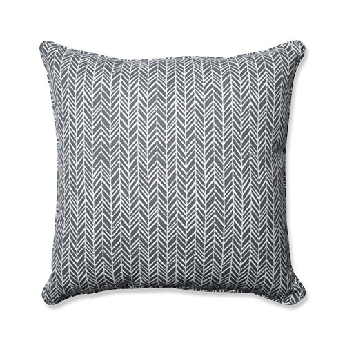 Herringbone Slate 25-inch Floor Pillow