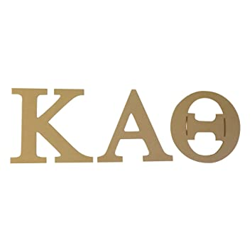 kappa alpha theta 75 unfinished wood letter set