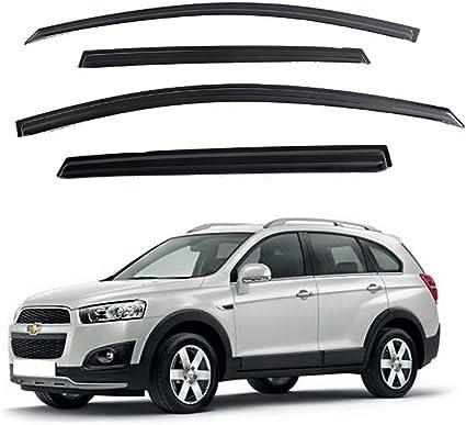 All Models Accessory 4/Parts Safe Window Visor Wind Rain Deflector Tinted for Chevrolet Captiva