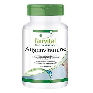 diseñado específicamente para los ojos - - vitaminas Eye - durante 2 meses 60 comprimidos - multivitamínico: Amazon.es: Salud y cuidado personal
