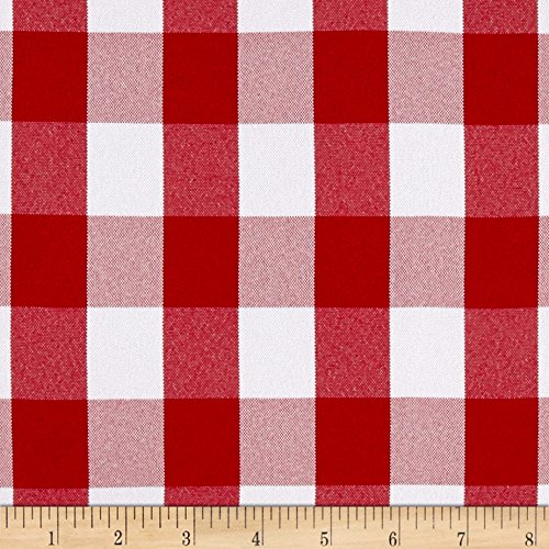 - Ben Textiles Picnic Gingham Yarn-Dyed Fabric, Red/White, Fabric by the yard
