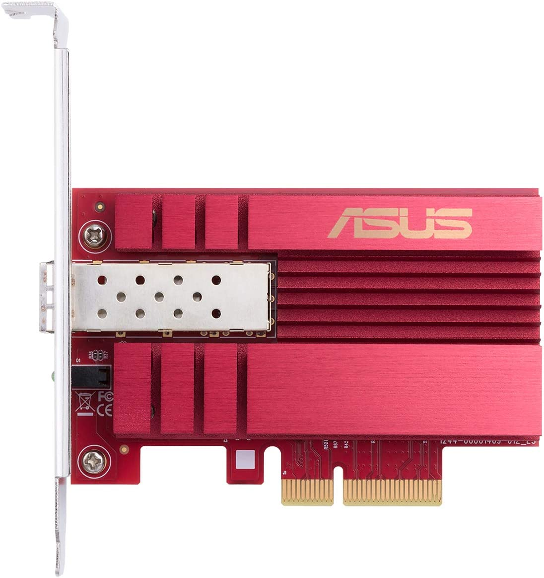 Asus 10Gbps Gigabit Ethernet PCI Express, Network Adapter PCIe 2.0/3.0 X4 SFP+ Network Card/Ethernet Card Support Fiber Optic (XG-C100F)