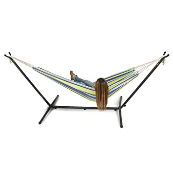 belleze 10ft double hammock stand with carrying bag portable set oasis amazon     belleze 10ft double hammock stand with carrying bag      rh   amazon