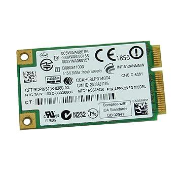 Yintiod 5100AN - Tarjeta WLAN (procesador Intel 5100 Dual ...