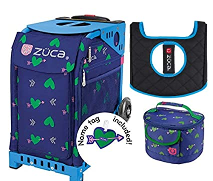 246ac0fcb333 ZUCA Sport Bag - Cupid with Gift Lunchbox and Seat Cover (Blue Frame)