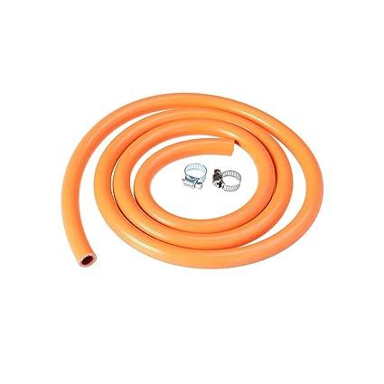 BESTOMZ Tubería de Gas Flexible de 150cm Tubería de Conexión Rápid Manguera de Caucho con 2