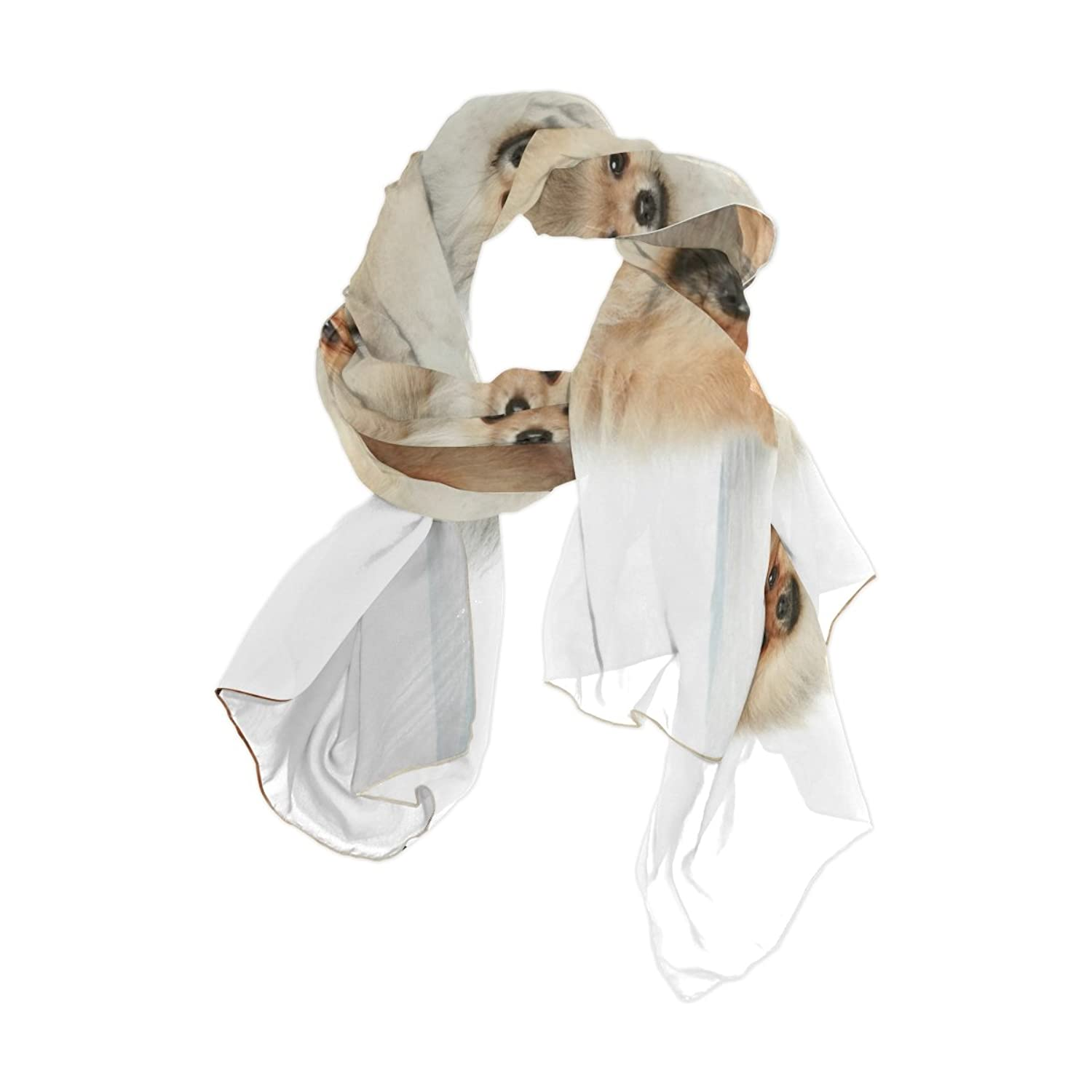 Ablink Horse Hooves Sheer Chiffon Scarf Various Style Accessory 70.86x35.4(inch)