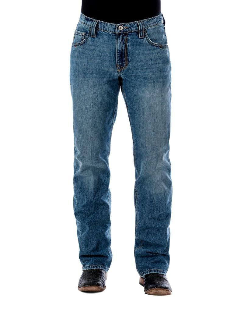 Cinch Men's Carter 2.0 Light Stonewash Relaxed Fit Jeans Boot Cut Indigo 38W x 38L