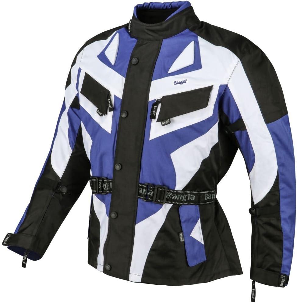 Ledershop-online 1535 Bangla Motorradjacke Tourenjacke Motorrad Jacke Schwarz Blau M
