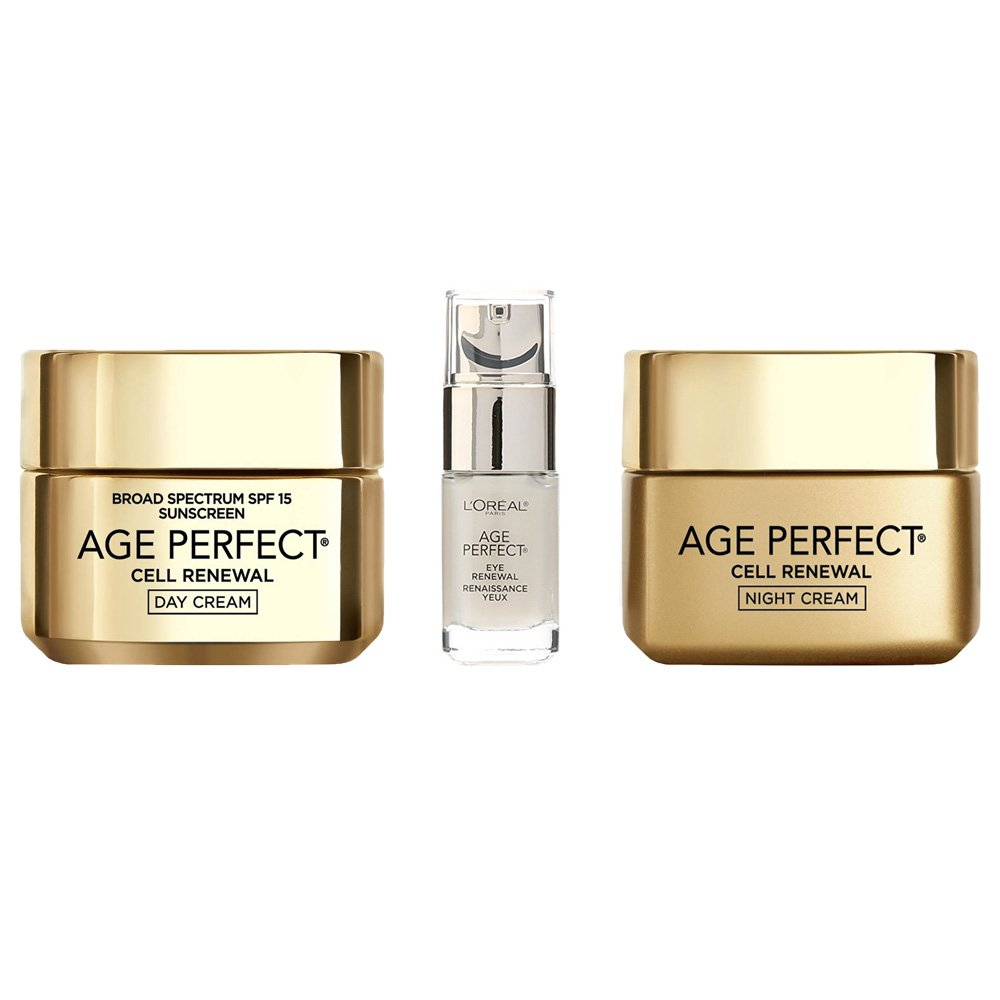 L'Oreal Paris Age Perfect Cell Renewal Day, Night and Eye Regimen