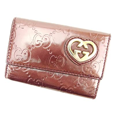 4b307805df4d (グッチ) Gucci キーケース 6連キーケース ブラウン ゴールド パープル ラブリーハート グッチシマ