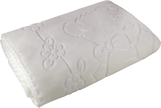 Perla del bebé, manta del bebé, Superior en relieve polar, muy suave, lavable a máquina, hecho en España, 80 cm x110 cm, color blanco: Amazon.es: Hogar