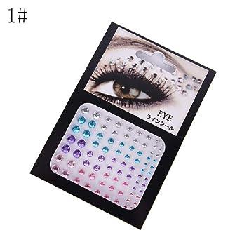 65b4de02d10 Amazon Com Christmas Diy Eyebrow Adhesive Crystal Glitter Art