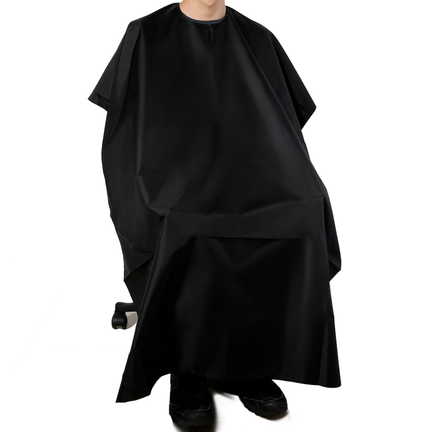 Professional Barber Haircutting Cape Lightweight Polyester Water Resistant for Salon Home Haircuts for Adult with Velcro Closure vtrem