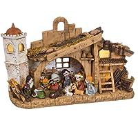 Belén de Navidad con Portal y 11 Figuras