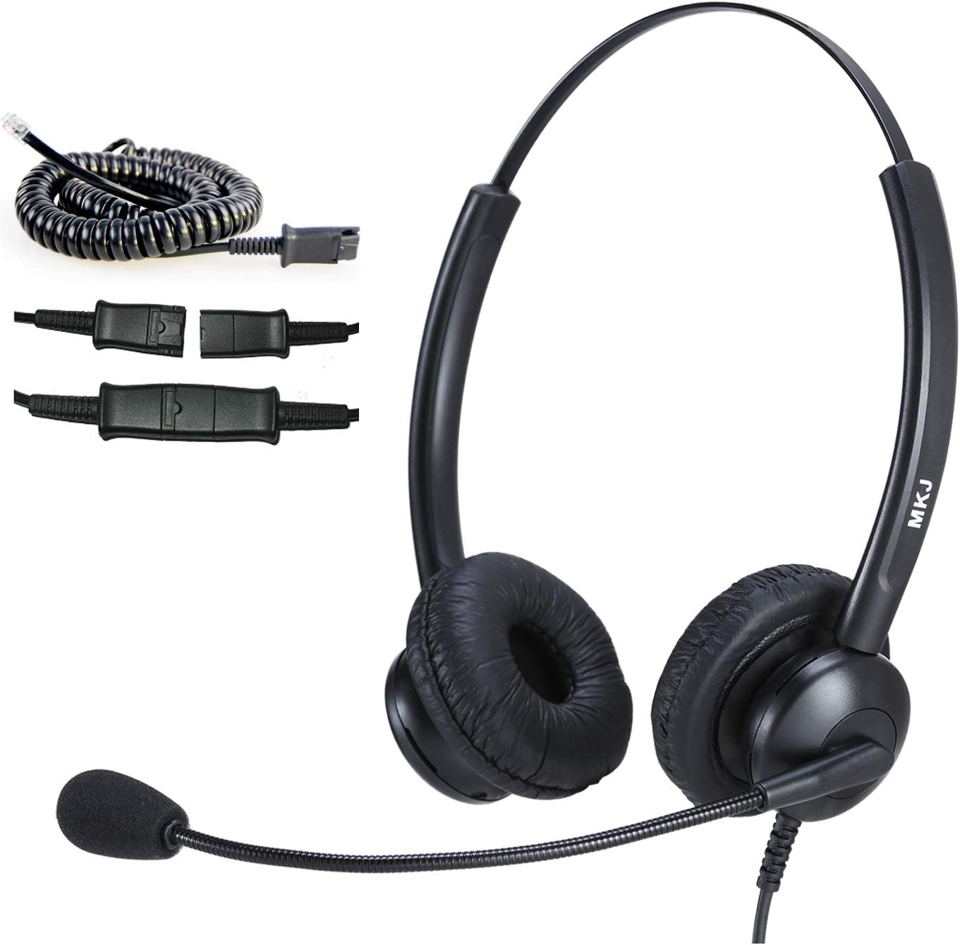 Cisco Headset for Office Phones Dual Ear Landline Headset with Noise Cancelling Microphone for Cisco Telephone CP-7821 7841 7942G 7940 7941G 7945G 79607961G 7962G 7965G 7970 7971G 7975G 8841 8865 9971