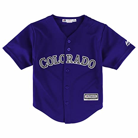 check out fefd8 68fad Majestic Team Colorado Rockies MLB Purple Official Alternate Cool Base  Jersey for Toddler