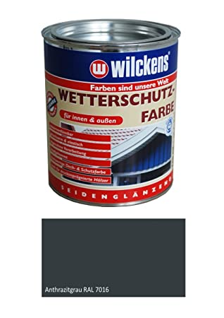Gut gemocht Wilckens 2,5 L. Wetterschutzfarbe, Anthrazitgrau RAL 7016 OC36