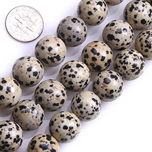 GEM-inside Dalmation Dalmatian Jasper Gemstone Loose Beads 14MM Round Crystal Energy Stone Power For Jewelry Making 15