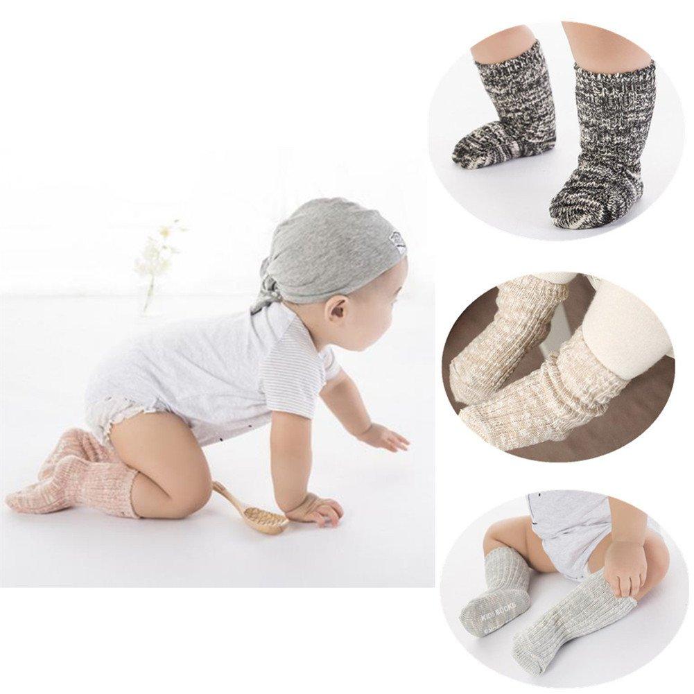 Treney Knitting Wool Baby's Socks Children's Floor Socks, 4 Pairs