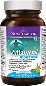 New Chapter Sleep Aid – Zyflamend Nighttime for Sleep Support with Turmeric + Valerian Root + Lemon Balm + Holy Basil – 60 ct Vegetarian Capsules