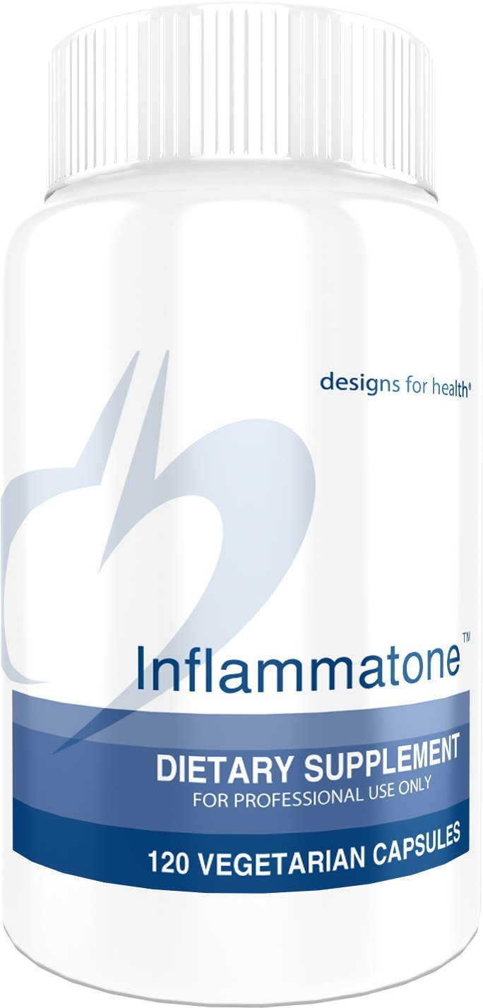 Designs for Health - Inflammatone - 120 Capsules, Curcumun + Nutrients + Proteolytic Enzymes