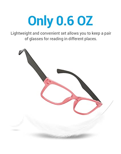 dd6dacb8a6a TIJN 4 Packs Screwless Comfort Reading Glasses Fashion Readers Eyeglasses  for Reading Men Women  Amazon.ca  Health   Personal Care