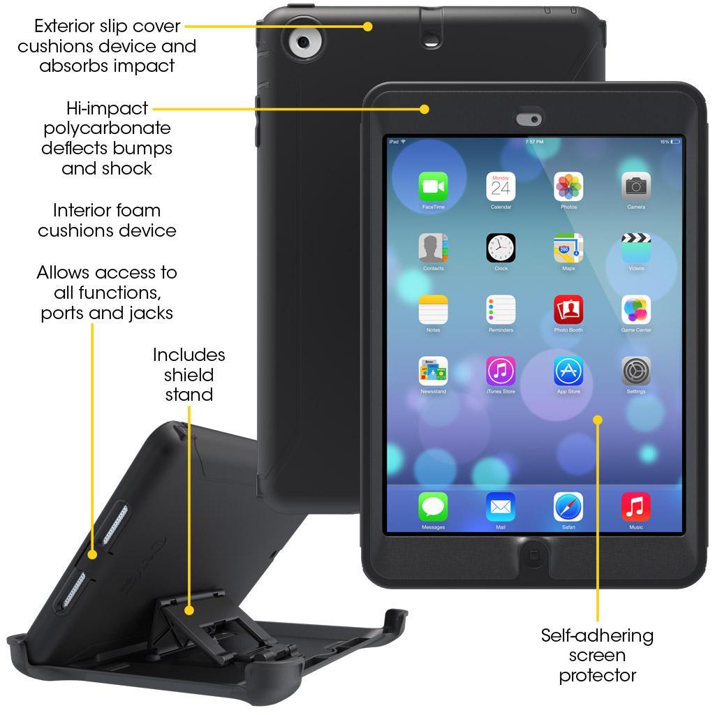 reputable site c66c5 b5f12 OtterBox Defender Series for iPad mini with Retina display - Black