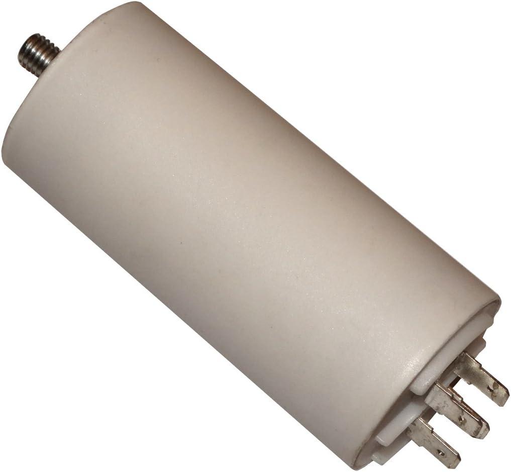 Condensatore permanente di lavoro per motore 25/µF 450V con terminali 6,3mm C10516 Aerzetix