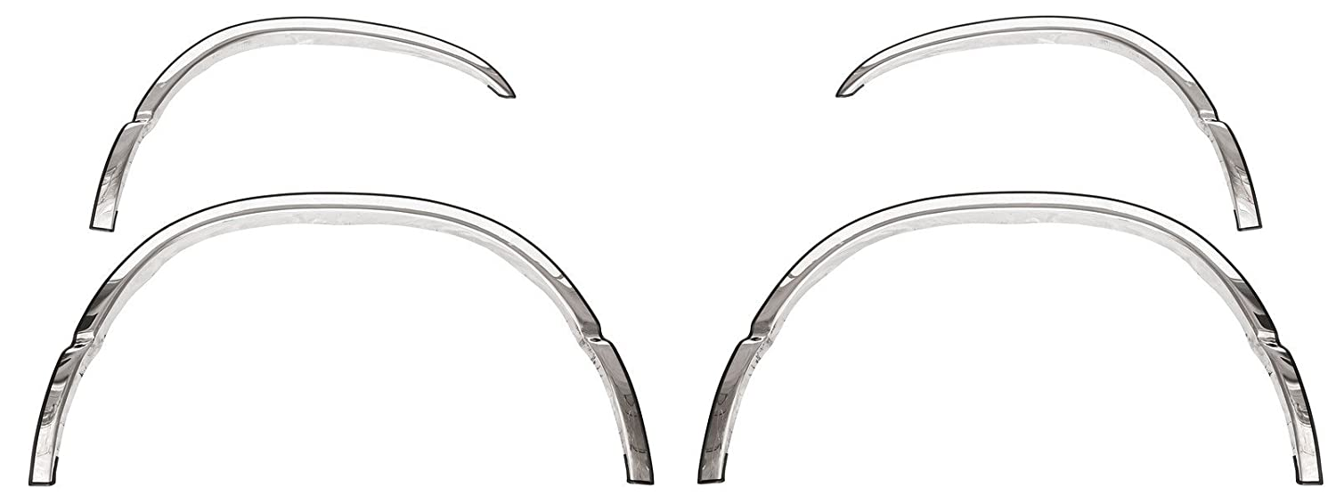 Upgrade Your Auto 4Pc Chrome Stainless Steel 3//4 Fit Fender Trim for 2003-08 Mercury Grand Marquis Gs