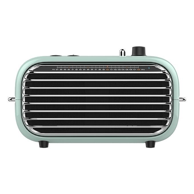 Review Vintage Bluetooth Speaker Portable