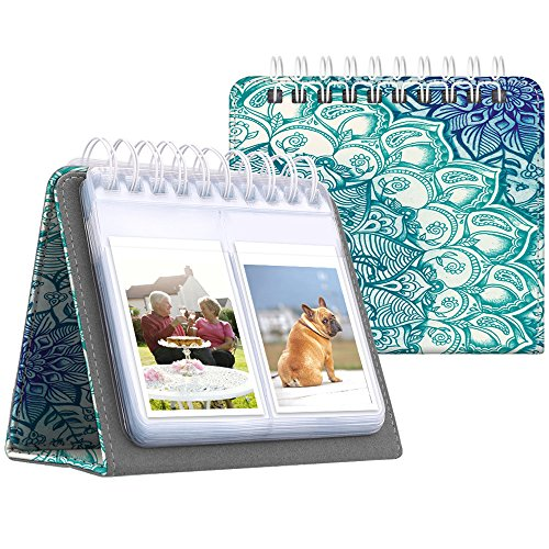 Fintie Calendar Photo Album for Fujifilm Instax - 64 Pockets Vegan Leather Photo Album for Fujifilm Mini 9 Mini 8+ Mini 90, HP Sprocket, Kodak Mini, Polaroid Camera 3-Inch Film (Emerald Illusions) by Fintie