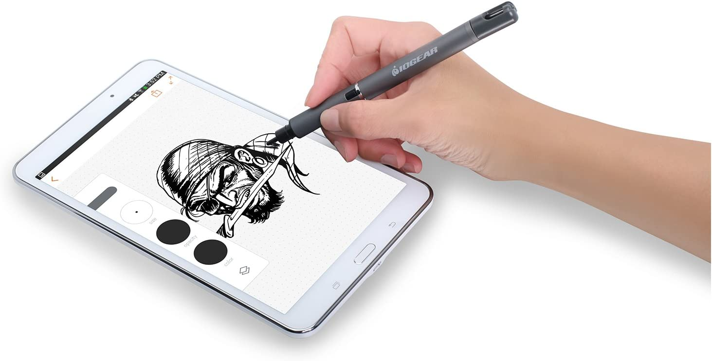 iPad Surface and most Touchscreens IOGEAR PenScript Active Electronic Stylus with Precision Power Tip Technology for iPhone Androids