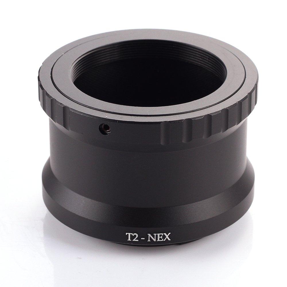 Fotga adaptateur dobjectif T2-NEX T2 T Lens /à Sony E-mount Adapter Ring NEX-6 5C 5T C3 F3 A7S II A33 A5100 A6000
