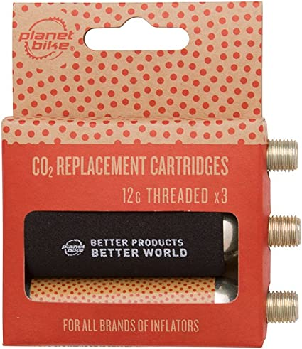 Planet Bike 16g Threaded CO2 Cartridges 3-Pack