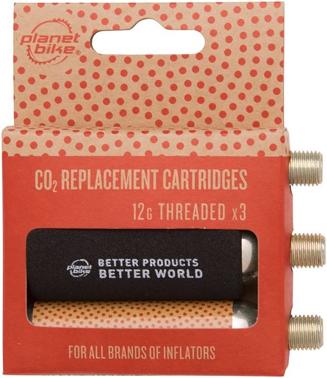 Planet Bike 12g CO2 Cartridges Threadless 10-pack NEW