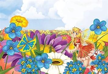 BuEnn 9x6ft Fotografía de Hadas de Flores Telón de Fondo ...