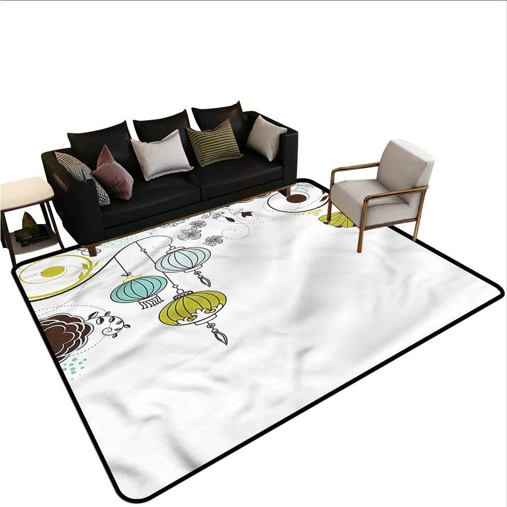 "Lantern,Bath Mat Set Kitchen Door 60\""x 72\"" Abstract New Year China Office Floor mats 61NG7TduivL._SL1000_"