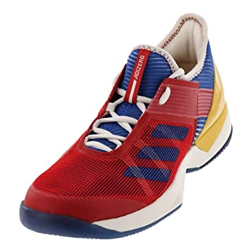 free shipping 12deb 9c914 adidas  Women`s Adizero Ubersonic 3 Pharrell Williams Tennis Shoes Chalk  White and Blue  S81005-F17 Amazon.co.uk Sports  Outdoors