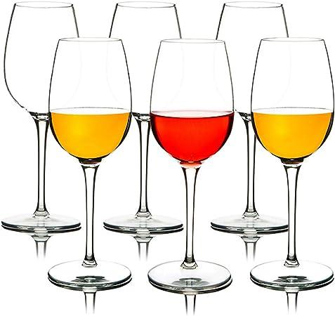 MICHLEY Incassable Longue Tige RougesBlancs Vin Verres 12.5 OZ, 100% Tritan Plastique Gobelets Verres, Lavable au Lave Vaisselle, Parfait pour