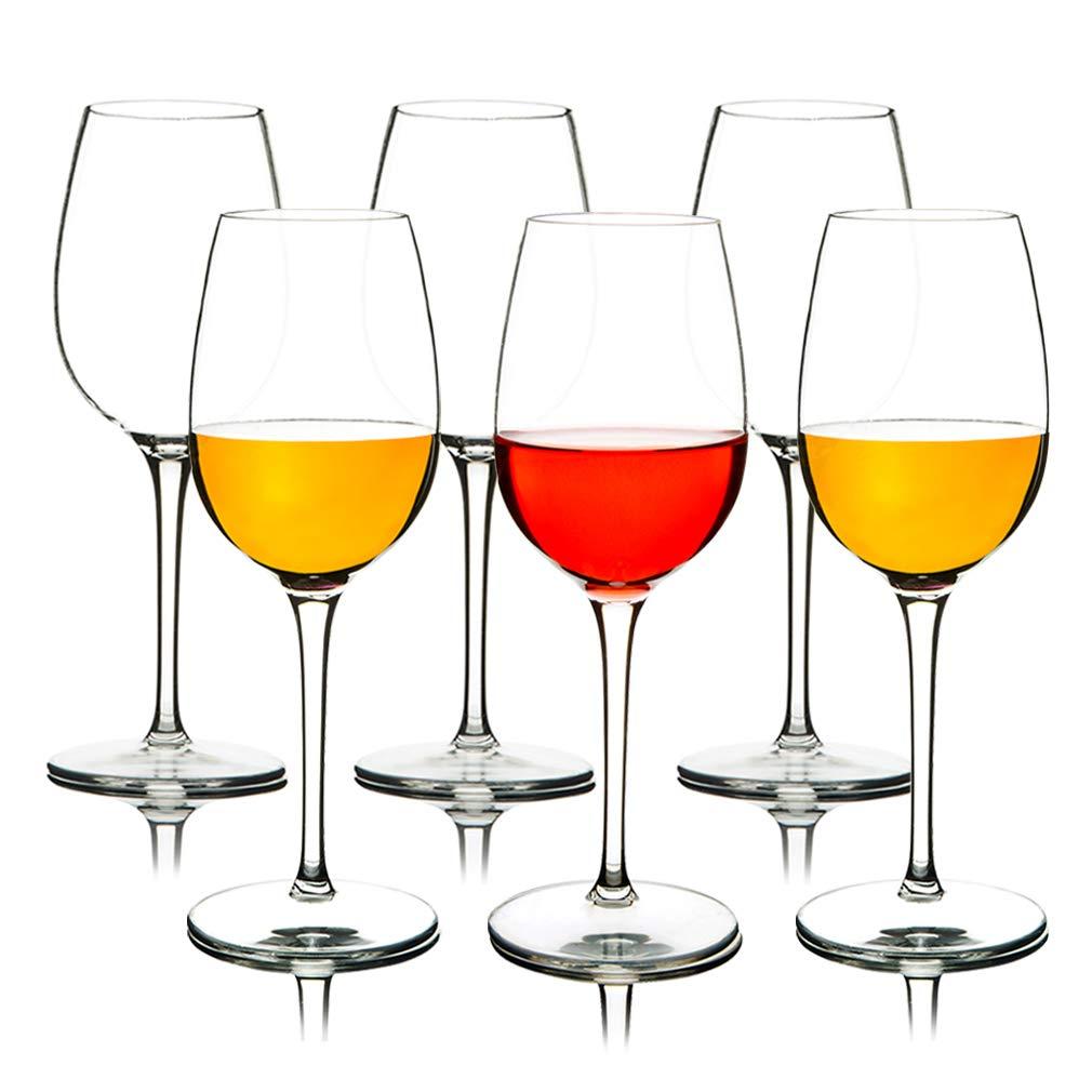 IDGIRLS Unbreakable Tritan Plastic Red Wine Glasses Dishwasher Safe Crystal Clear Stemware 12.5 oz Set of 6