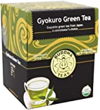 Organic Japanese Gyokuro Green Tea - Kosher, Contains Caffeine, GMO-Free - 18 Bleach Free Tea Bags