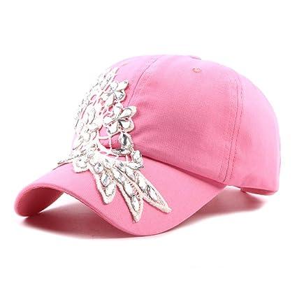 JDDRCASE Sombreros de Moda Gorras, Gorra de béisbol Primavera Verano Señoras Algodón Visera Playa Sombrero