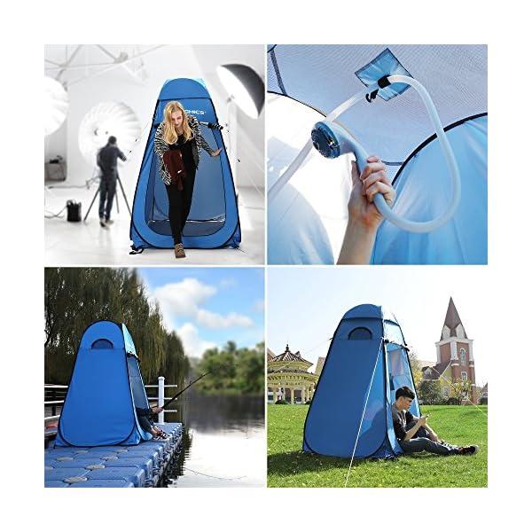 61NG8rnuseL SONGMICS Pop-Up-Zelt, Toilettenzelt, Umkleiderzelt, für Outdoor, Camping, Angeln, Strand, Dusche, Toilette, Tragetasche…