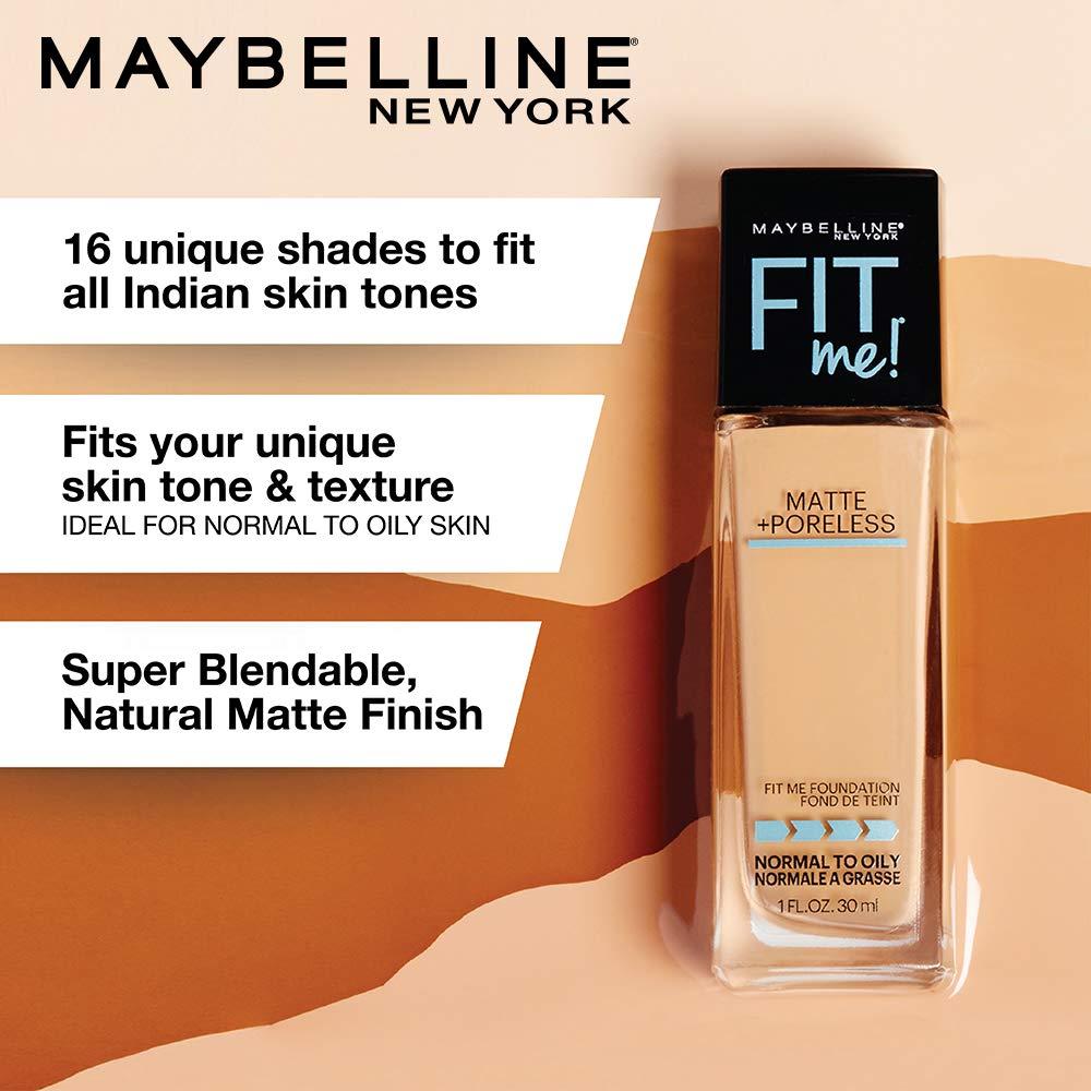 145902f43 Amazon.com : Maybelline New York Fit Me Matte + Poreless Liquid Foundation  Makeup, Ivory, 1 fl. oz. Oil-Free Foundation : Beauty