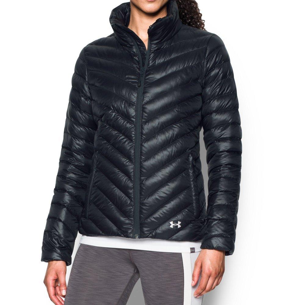 Under Armour Women's ColdGear Infrared Uptown Jacket, Black/Glacier Gray, Large