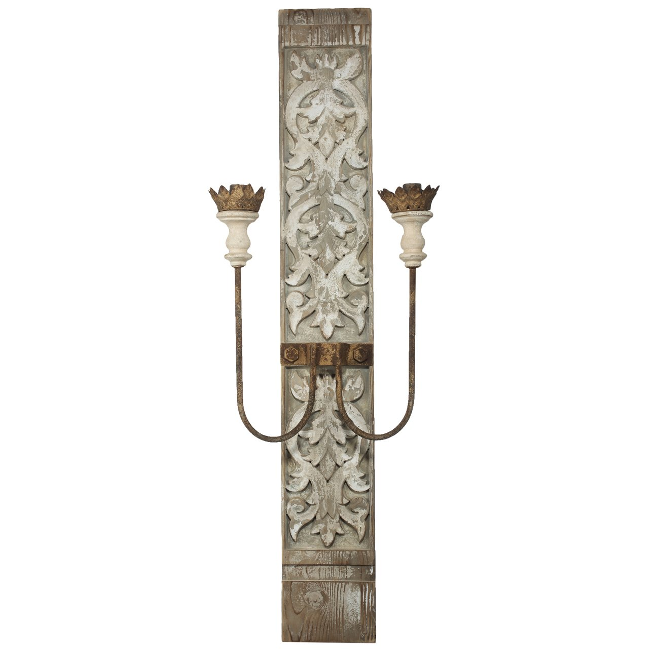 """A&B Home Two-Light Wall Sconce (Electric), 16"""" x 9"""" x 45"""""""