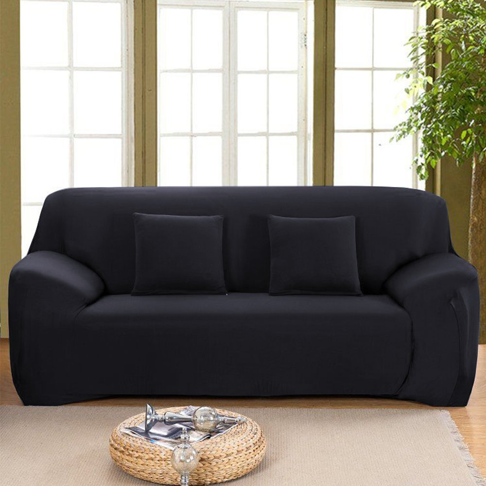 Terrific Stretch Seat Chair Covers Couch Slipcover Sofa Loveseat Cover 9 Colors 4 For 1 2 3 4 Four People Sofa 1 Pillowcase 57 72 2 Seater Black Andrewgaddart Wooden Chair Designs For Living Room Andrewgaddartcom