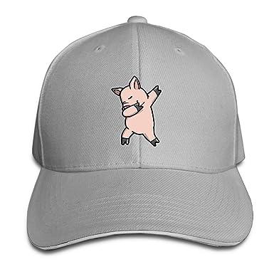 dfc2a0da8ea79 Junminlu Baseball Caps Dabbing Pig Russia 2018 Unisex Sandwich Cap Vintage Trucker  Hats at Amazon Men s Clothing store